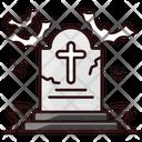 Graveyard Gravestone Funeral Home Icon