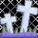 Graveyard Gravestone Halloween Icon