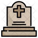Graveyard Scary Tombstone Icon
