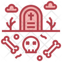 Graveyard Tombstone Scary Icon