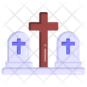 Cemetery Graveyard Burial Ground Icon