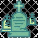 Graveyard Cemetery Horror Icon