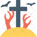 Graveyard Grave Cross Icon