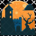 Graveyard Halloween Icon