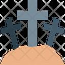 Graveyard Halloween Graveyard Scary Icon