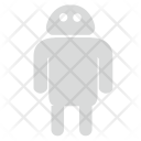 Gray Robot Android Icon