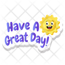 Happy Sun Morning Time Great Day Icon