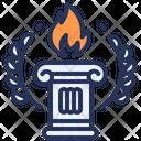 Greece Laurel Pillar Icon