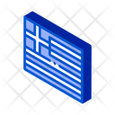 Flag Greece Country Icon