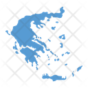 Greece Map Icon