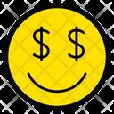 Greedy Money Smile Icon