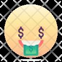 Greedy Emoji Smiley Icon