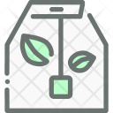 Green Tea Bag Icon