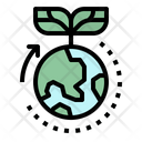 Green World Ecology Icon