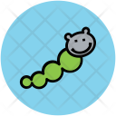 Green Worm Insect Icon