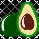 Green Fruit Avocado Icon