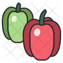 Green Pepper Red Icon