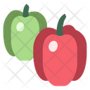Green And Red Pepper Icon
