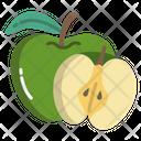 Green Apple Fruit Food Icon