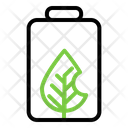 Energy Battery Leaf Icon