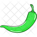 Green Chili Chili Pepper Chilli Icon