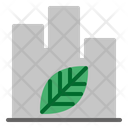 Green City Eco City Building Icon