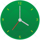 Green Clock Time Icon