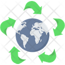 Green Earth Greenery World Icon