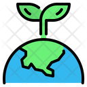 Green Earth World Icon