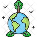 A Planet Earth Green Earth Green Eniveronment Icon