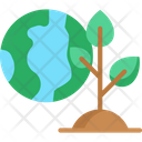 Green Earth Ecology And Environment Sustainability Icon