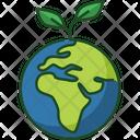 Green Earth Nature Eco Icon