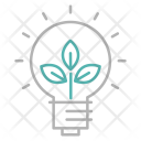 Green Electricity Think Icon