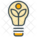 Eco Lightbulb Green Icon