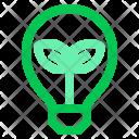 Lamp Leaf Green Icon