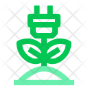 Green Ecology Electricity Icon