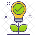 Green Electricity Plant Icon