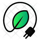 Leaf Cable Green Icon