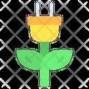 Green Energy Plug Icon
