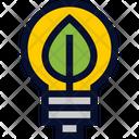 Green Energy Bulb Icon