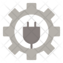 Sustainable Gear Energy Icon