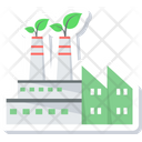 Green Factory Eco Factory Eco Manufacturing Icon