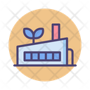 Green Factory Manfacturing Plant Factory Icon
