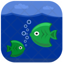Green Fishes Under Icon