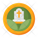 Green Funeral Grave Graveyard Icon