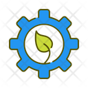 Green Gear Ecological Configuration Ecological Setting Icon