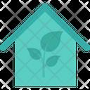 Glasshouse Eco House Leaf Icon