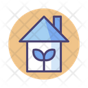 Green House Green Home Eco House Icon