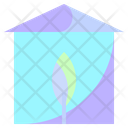 Green House Green Green Home Icon