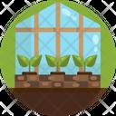 Greenhouse Plant Farm Icon